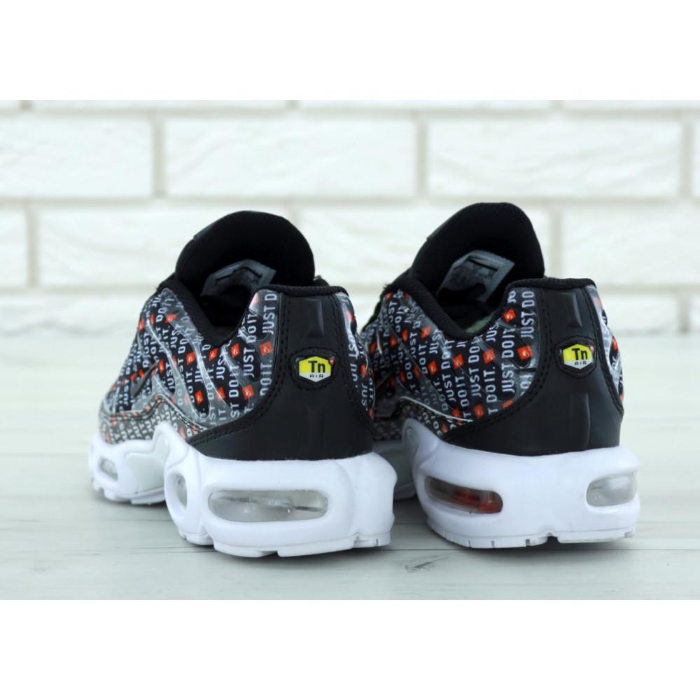 Мужские кроссовки Vibram - Мужские кроссовки Nike Air Max TN Plus Just Do It черно белого цвета 2