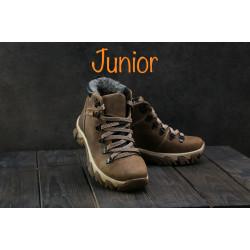 Подростковые ботинки кожаные зимние оливковые Twics К2