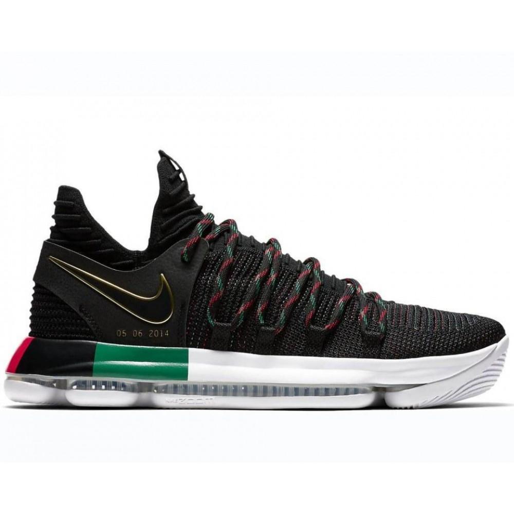 Демисезонные кроссовки мужские   - Баскетбольные кроссовки Nike KD 10 Black