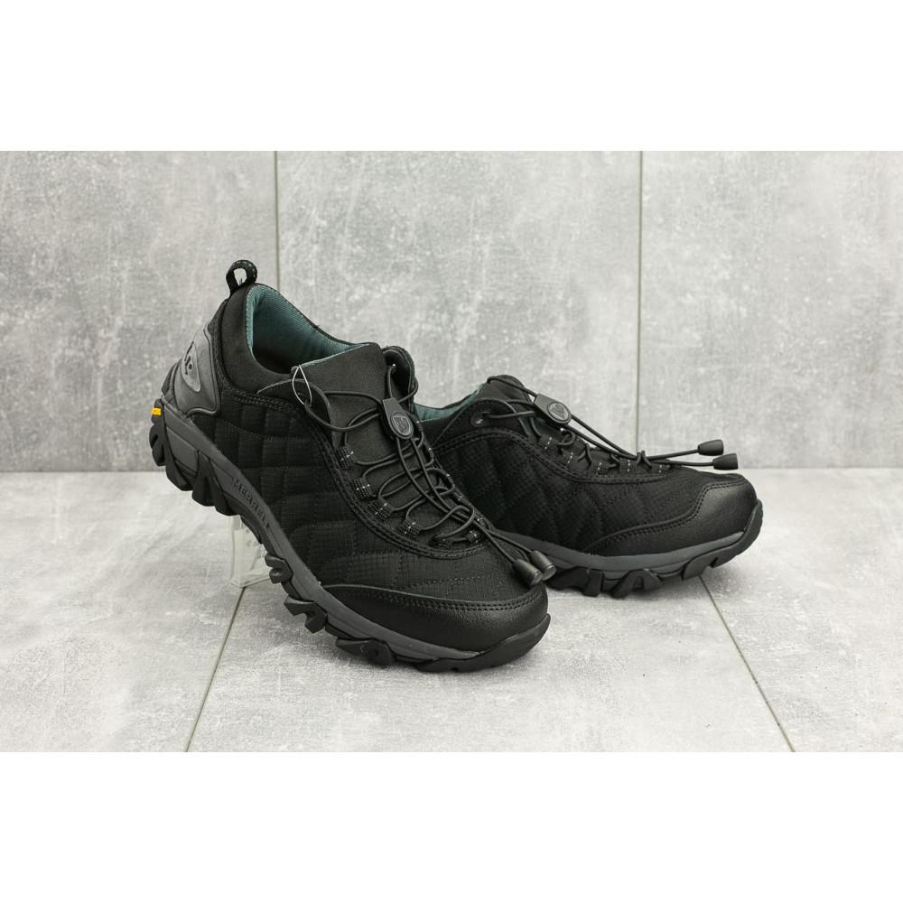Демисезонные кроссовки мужские   - Мужские кроссовки текстильные весна/осень черные Ditof A 741 -3