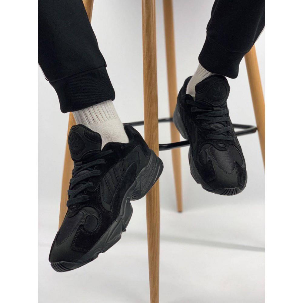 Демисезонные кроссовки мужские   - Мужские черные кроссовки Adidas Yeezy Yung-1 6