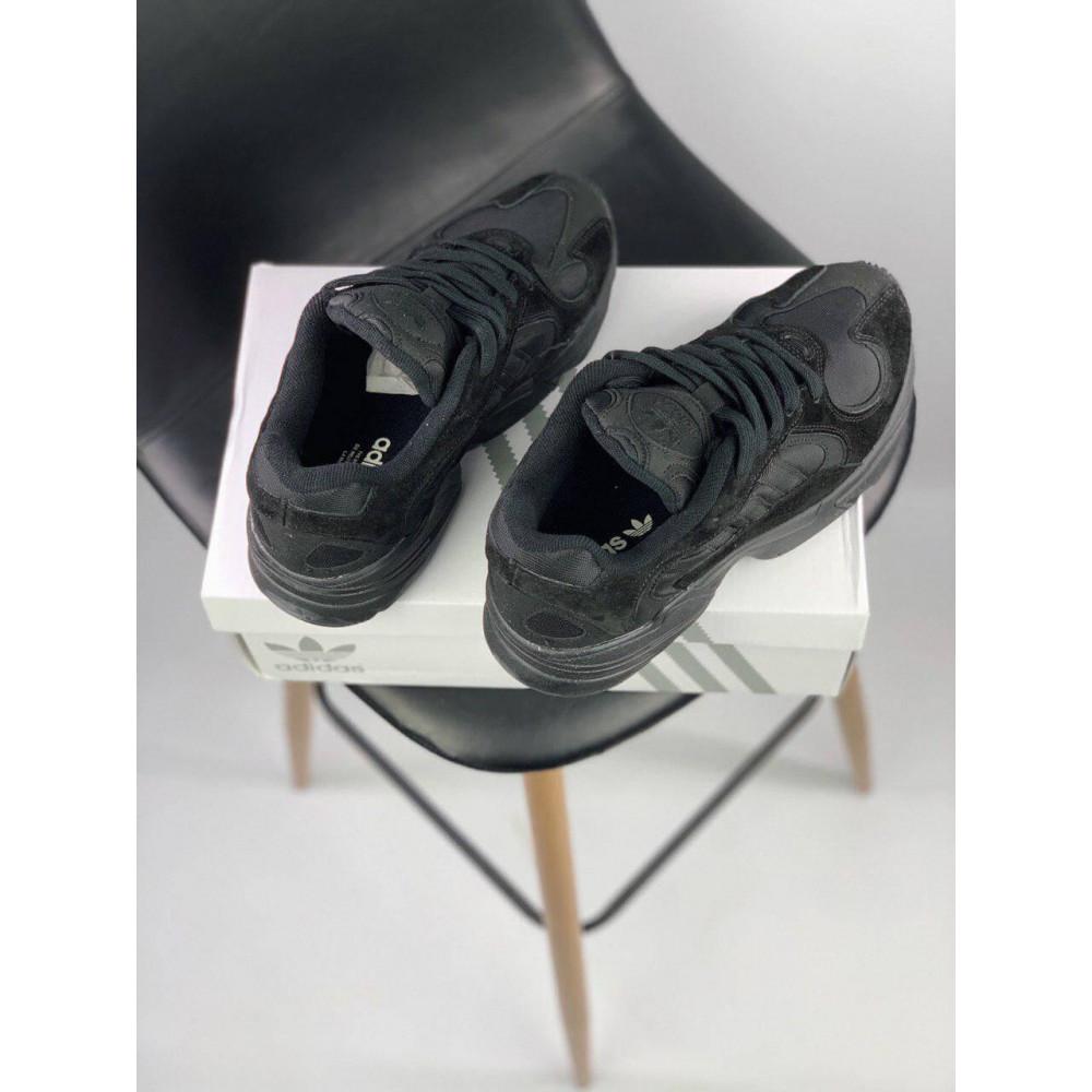 Демисезонные кроссовки мужские   - Мужские черные кроссовки Adidas Yeezy Yung-1 4