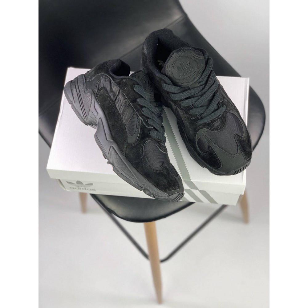 Демисезонные кроссовки мужские   - Мужские черные кроссовки Adidas Yeezy Yung-1 8