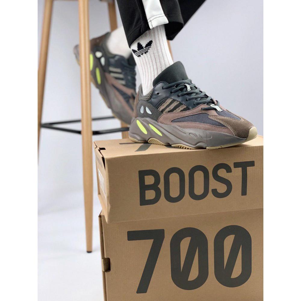 Демисезонные кроссовки мужские   - Мужские серые кроссовки Adidas Yeezy 700 Mauve