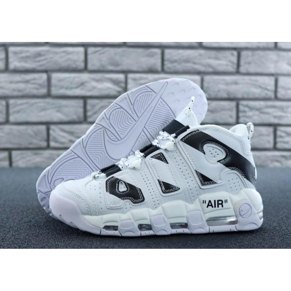 Демисезонные кроссовки мужские   - Мужские высокие кроссовки Air More Uptempo черно-белые 3