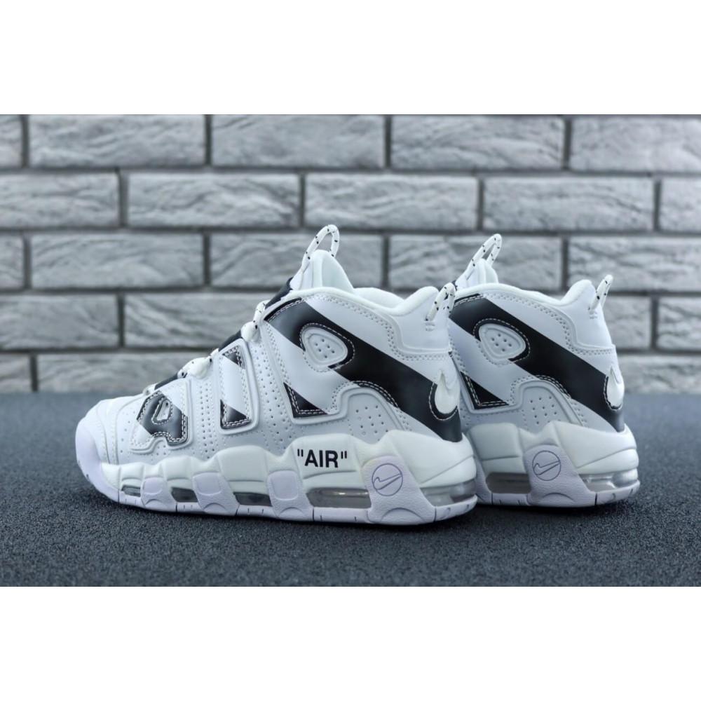 Демисезонные кроссовки мужские   - Мужские высокие кроссовки Air More Uptempo черно-белые 5