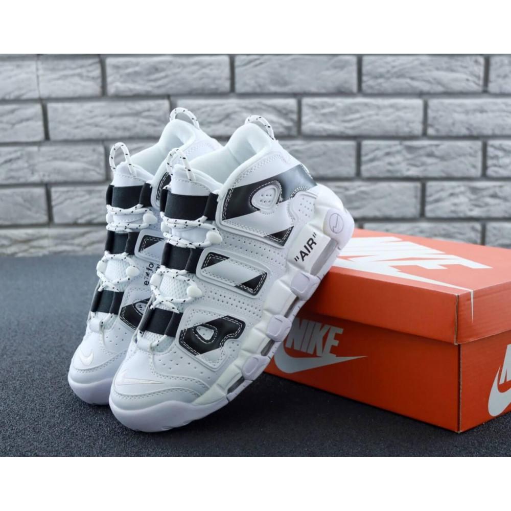 Демисезонные кроссовки мужские   - Мужские высокие кроссовки Air More Uptempo черно-белые
