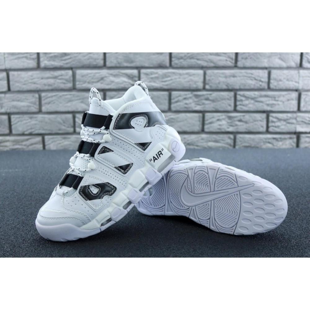 Демисезонные кроссовки мужские   - Мужские высокие кроссовки Air More Uptempo черно-белые 2