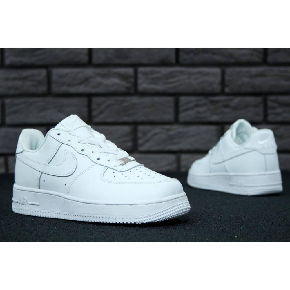 Демисезонные кроссовки мужские   - Белые мужские кроссовки Найк Аир Форс 6