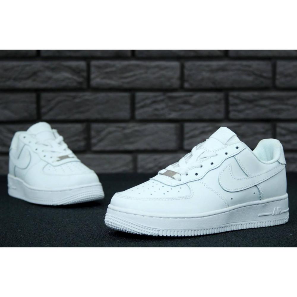 Демисезонные кроссовки мужские   - Белые мужские кроссовки Найк Аир Форс 4