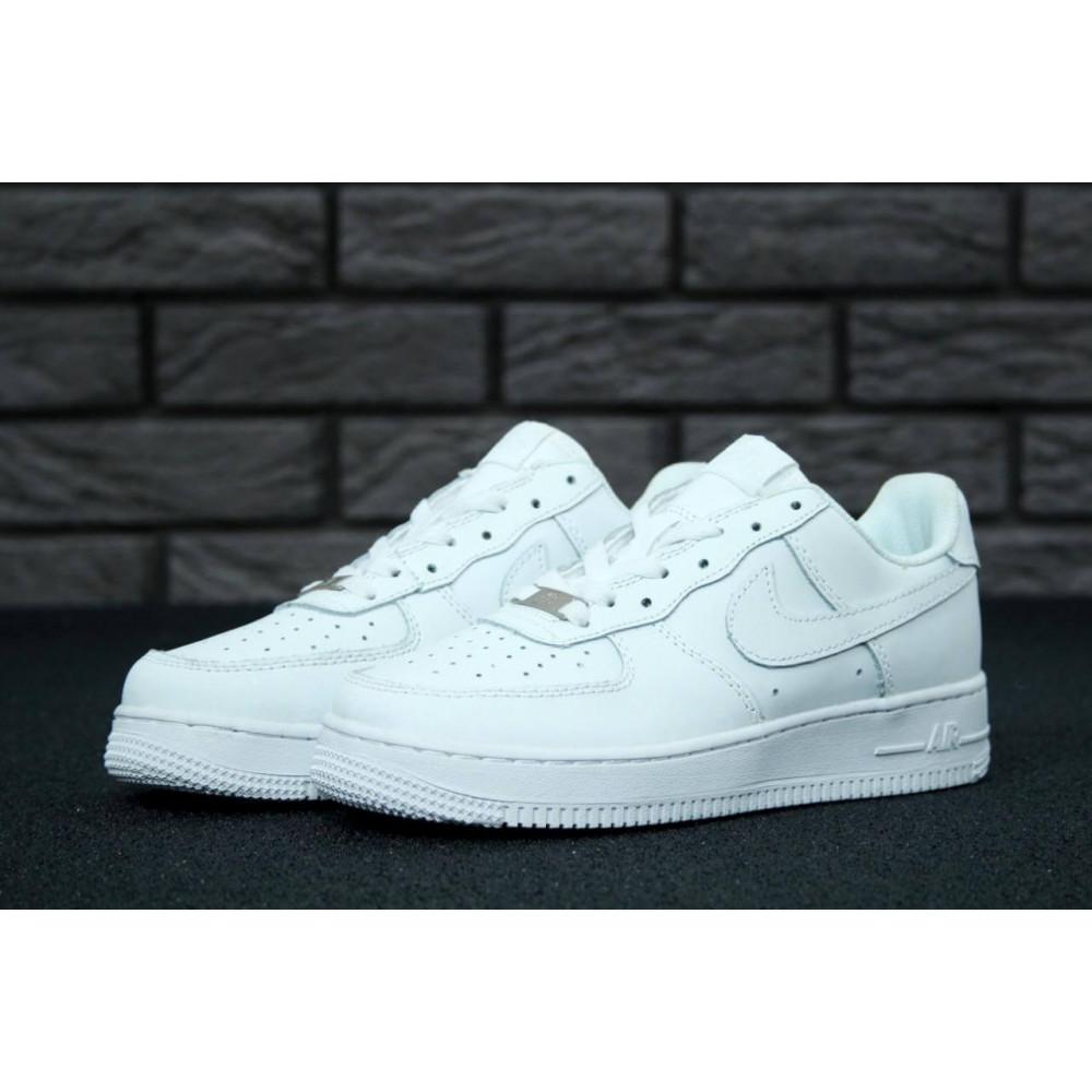 Демисезонные кроссовки мужские   - Белые мужские кроссовки Найк Аир Форс 3