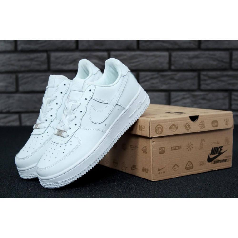Демисезонные кроссовки мужские   - Белые мужские кроссовки Найк Аир Форс