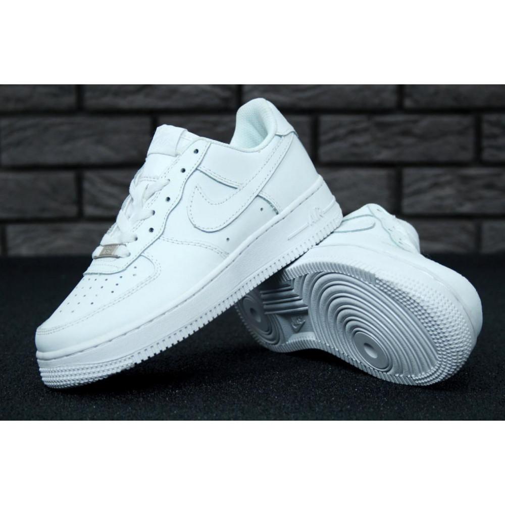Демисезонные кроссовки мужские   - Белые мужские кроссовки Найк Аир Форс 5