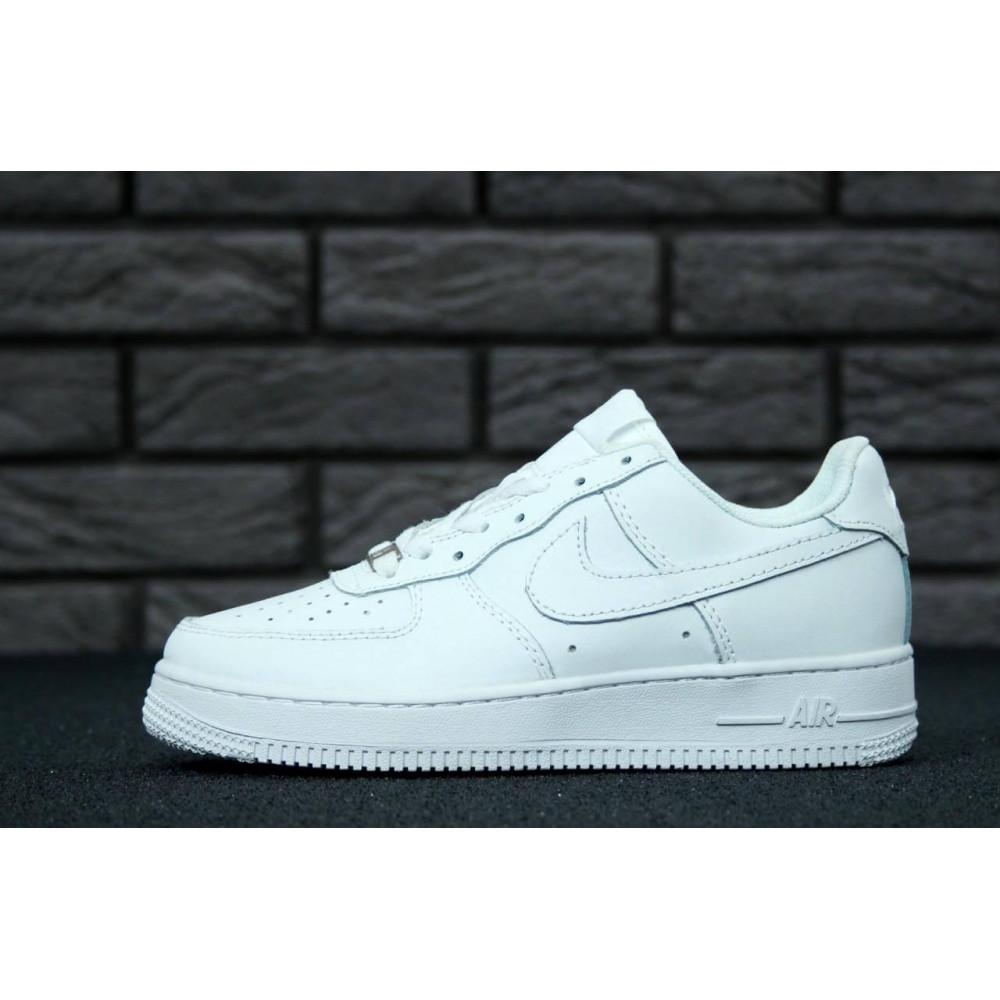 Демисезонные кроссовки мужские   - Белые мужские кроссовки Найк Аир Форс 1