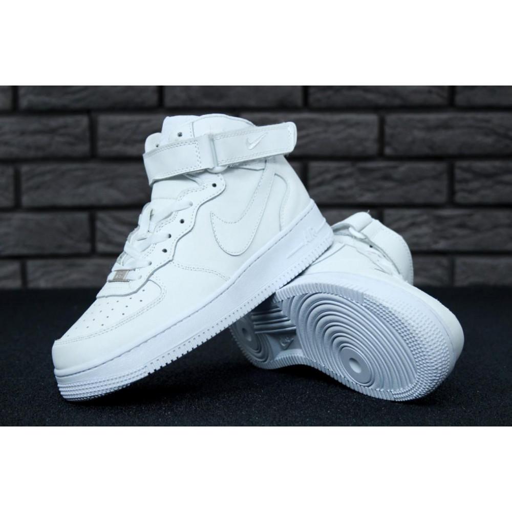 Демисезонные кроссовки мужские   - Мужские белые кроссовки Air Force 1 High 7