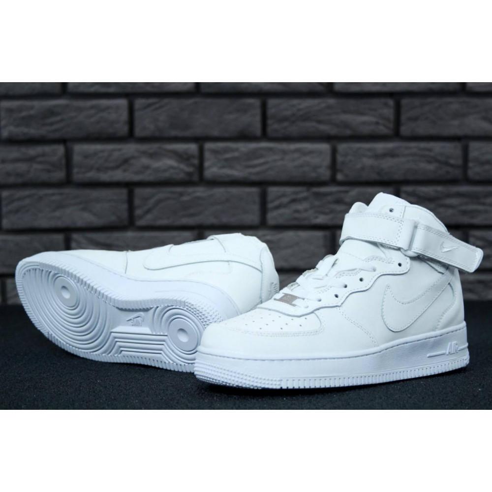 Демисезонные кроссовки мужские   - Мужские белые кроссовки Air Force 1 High 4