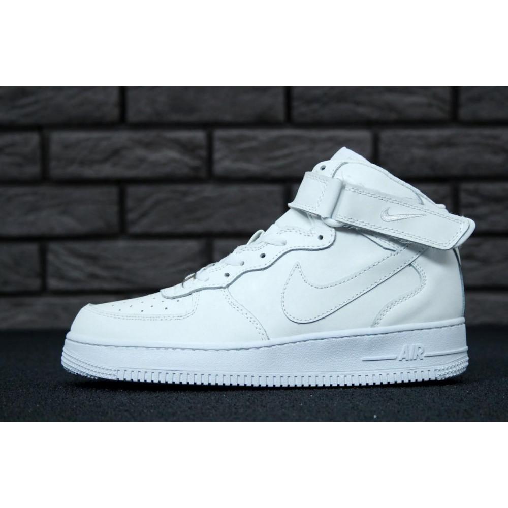 Демисезонные кроссовки мужские   - Мужские белые кроссовки Air Force 1 High 2