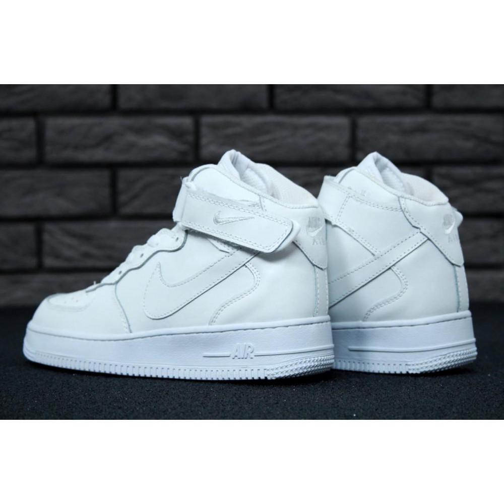 Демисезонные кроссовки мужские   - Мужские белые кроссовки Air Force 1 High 1