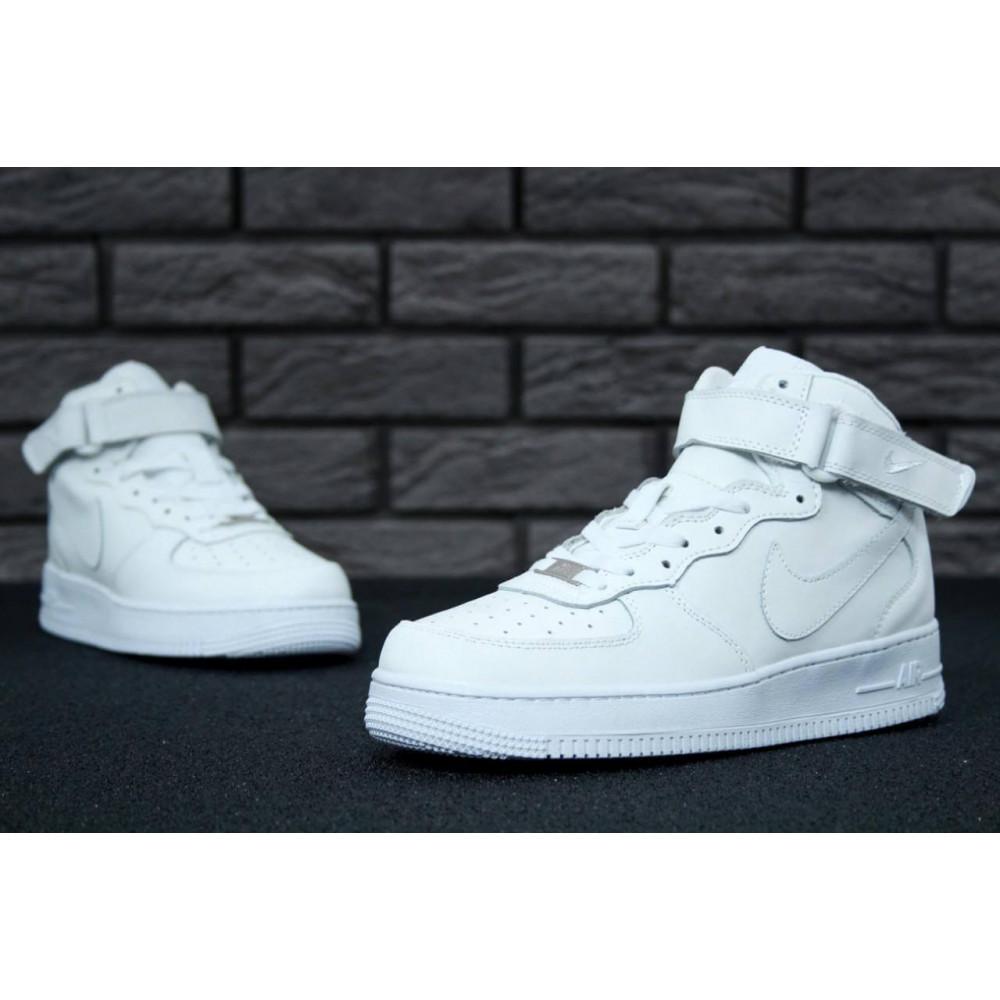 Демисезонные кроссовки мужские   - Мужские белые кроссовки Air Force 1 High 6