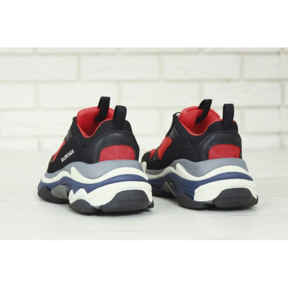 Демисезонные кроссовки мужские   - Мужские кроссовки Balenciaga Triple S многослойная подошва 8