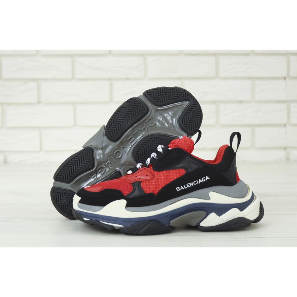 Демисезонные кроссовки мужские   - Мужские кроссовки Balenciaga Triple S многослойная подошва 3