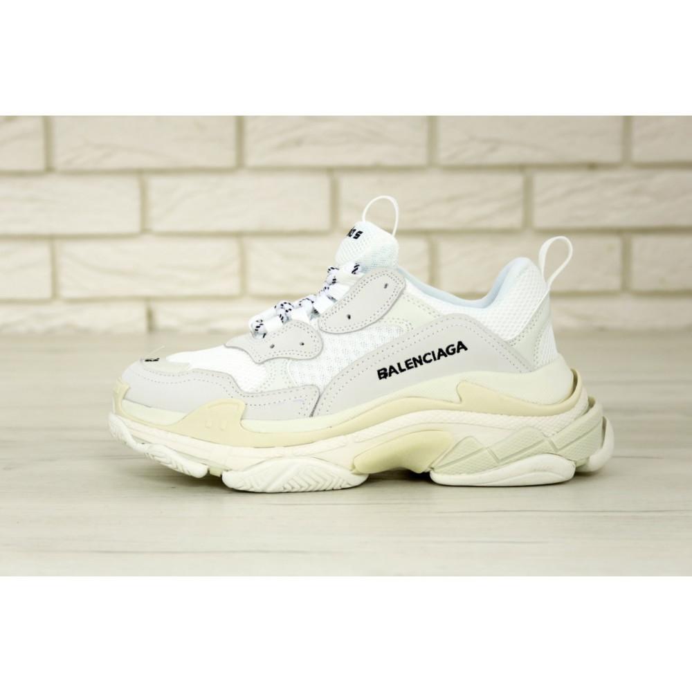 Мужские кроссовки Vibram - Белые кроссовки Balenciaga Triple S многослойная подошва 7