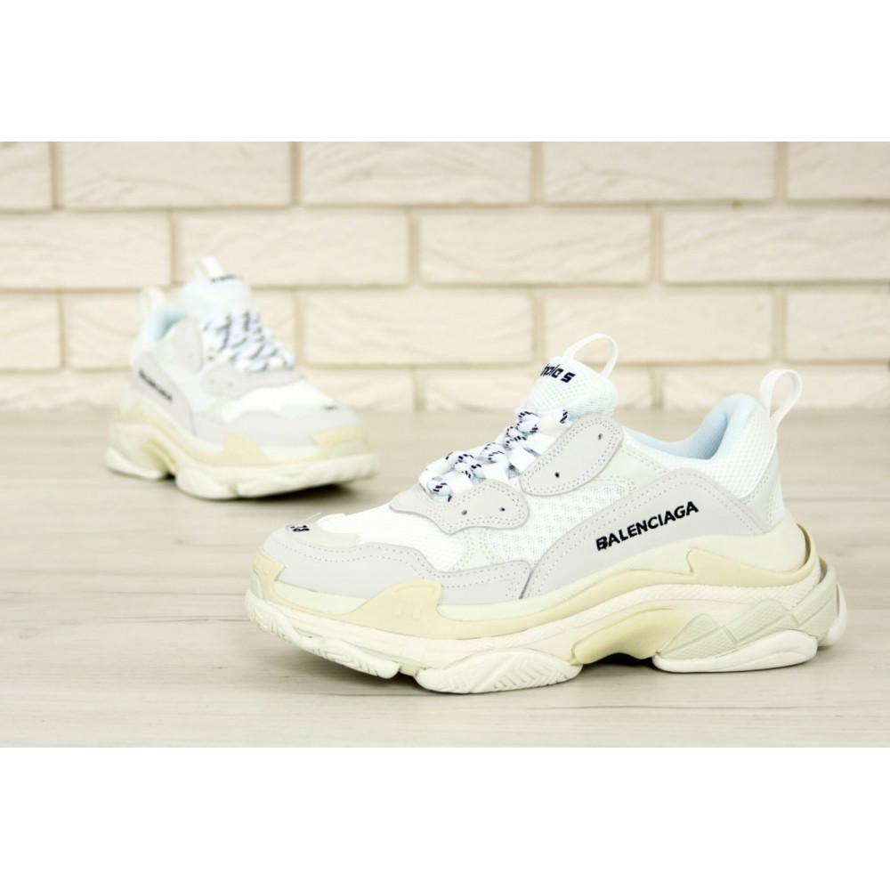 Мужские кроссовки Vibram - Белые кроссовки Balenciaga Triple S многослойная подошва 8
