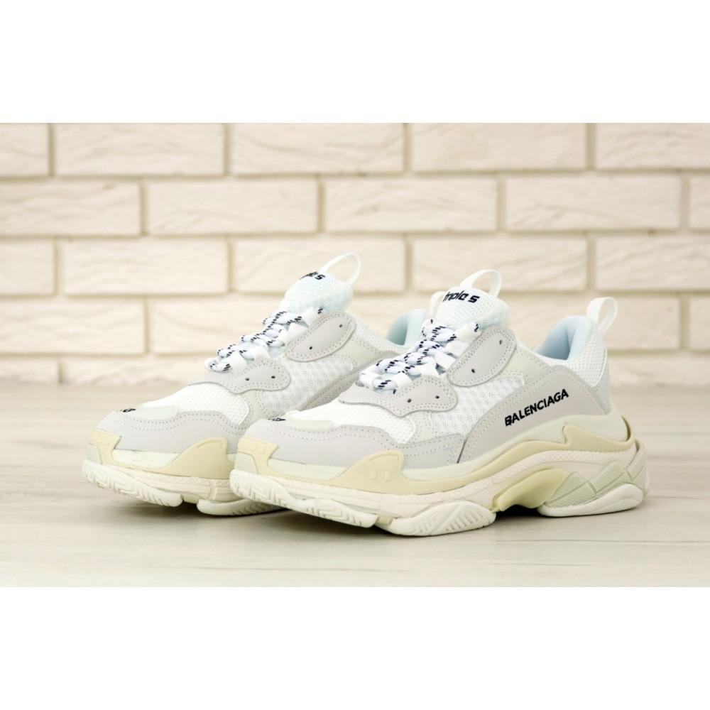 Мужские кроссовки Vibram - Белые кроссовки Balenciaga Triple S многослойная подошва 6