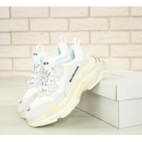 Белые кроссовки Balenciaga Triple S многослойная подошва