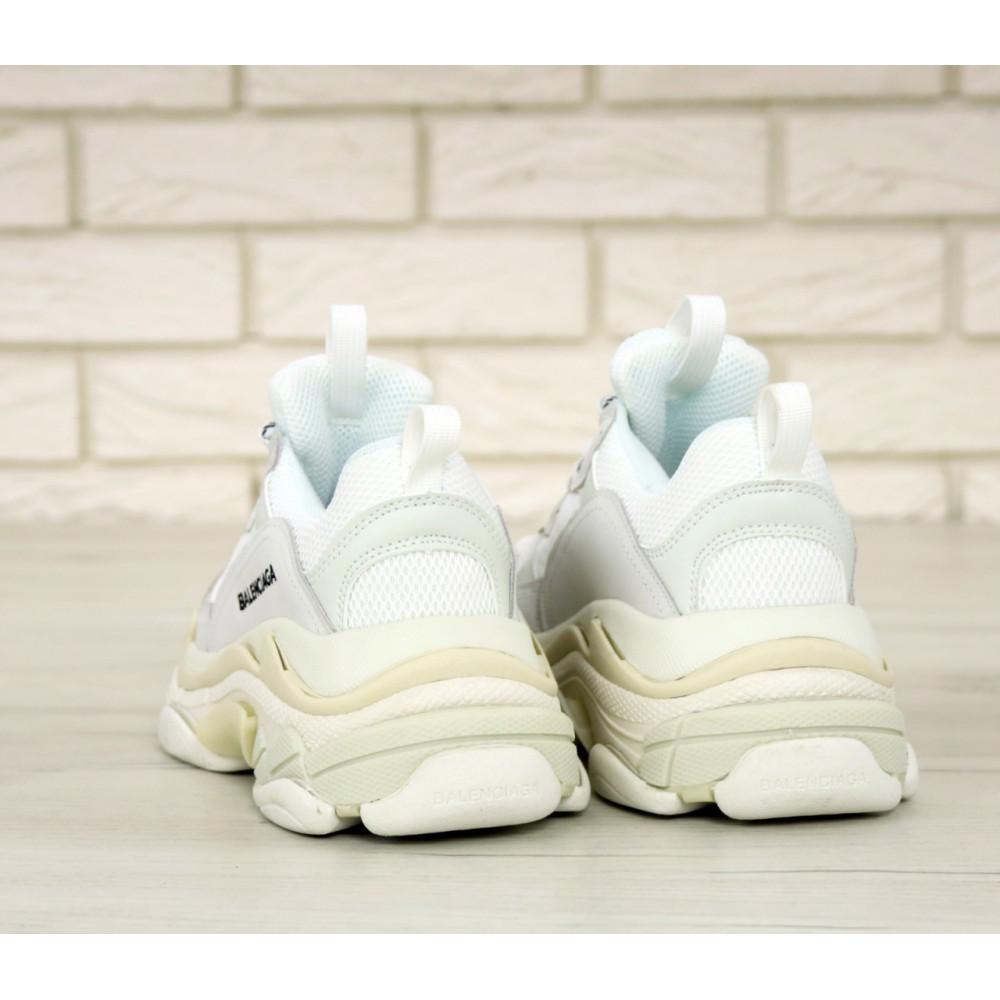 Мужские кроссовки Vibram - Белые кроссовки Balenciaga Triple S многослойная подошва 3