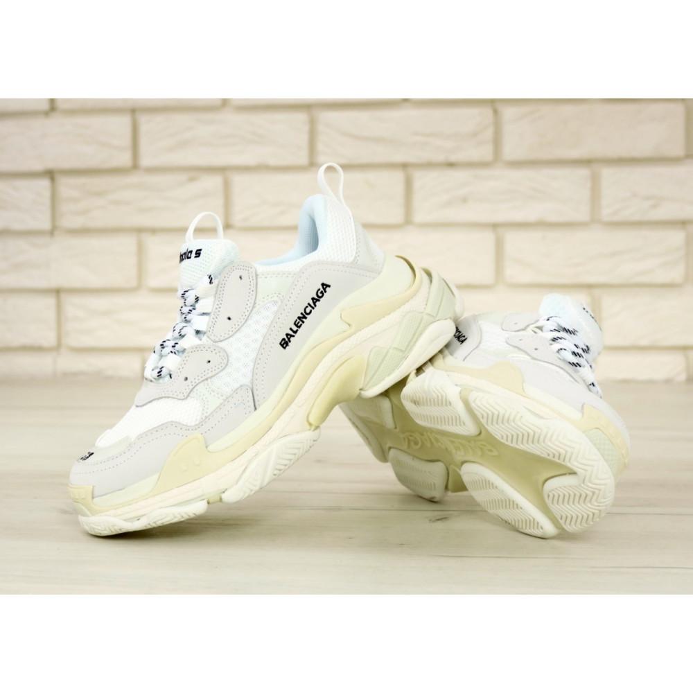Мужские кроссовки Vibram - Белые кроссовки Balenciaga Triple S многослойная подошва 5