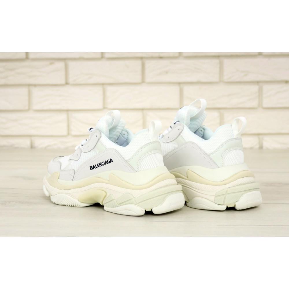 Мужские кроссовки Vibram - Белые кроссовки Balenciaga Triple S многослойная подошва 1