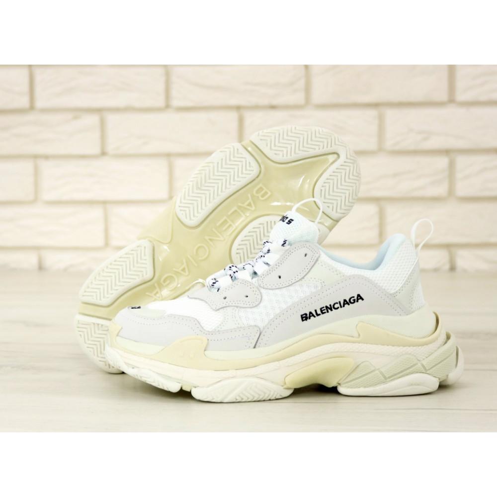 Мужские кроссовки Vibram - Белые кроссовки Balenciaga Triple S многослойная подошва 2