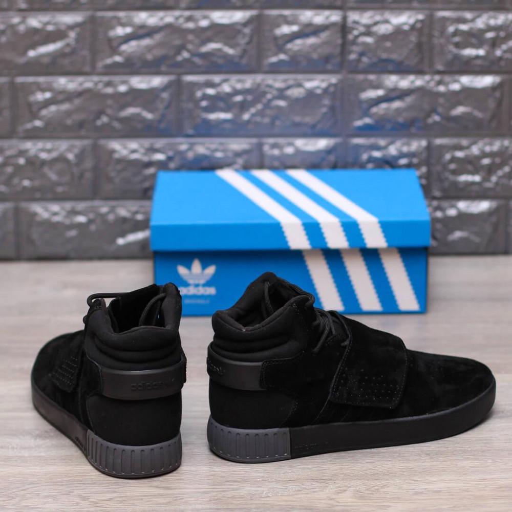 Демисезонные кроссовки мужские   - Кроссовки Adidas Tubular Ivader Strap Triple Black 5