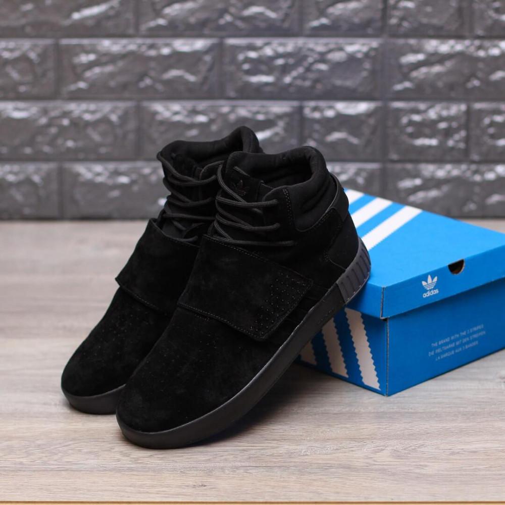 Демисезонные кроссовки мужские   - Кроссовки Adidas Tubular Ivader Strap Triple Black