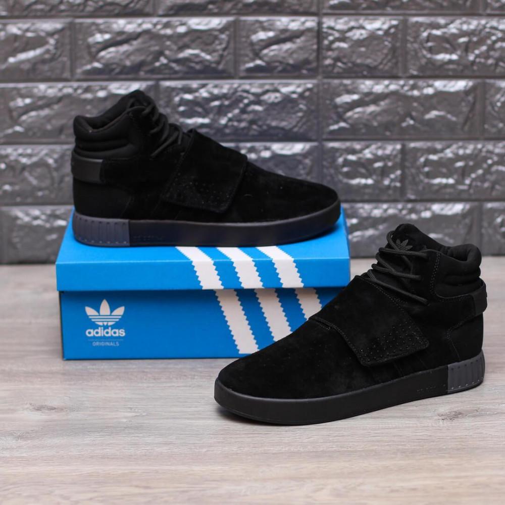 Демисезонные кроссовки мужские   - Кроссовки Adidas Tubular Ivader Strap Triple Black 3