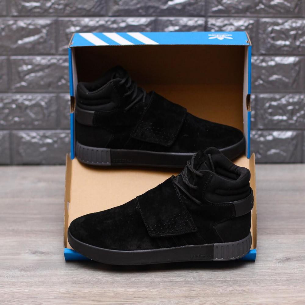 Демисезонные кроссовки мужские   - Кроссовки Adidas Tubular Ivader Strap Triple Black 2