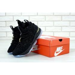 Баскетбольные кроссовки LeBron 15 Black Metallic Gold Ocean Fog