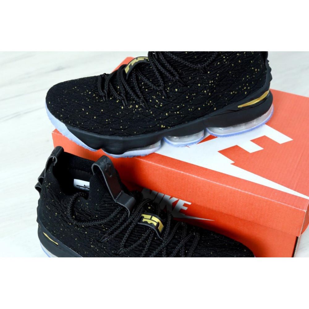 Демисезонные кроссовки мужские   - Баскетбольные кроссовки LeBron 15 Black Metallic Gold Ocean Fog 1