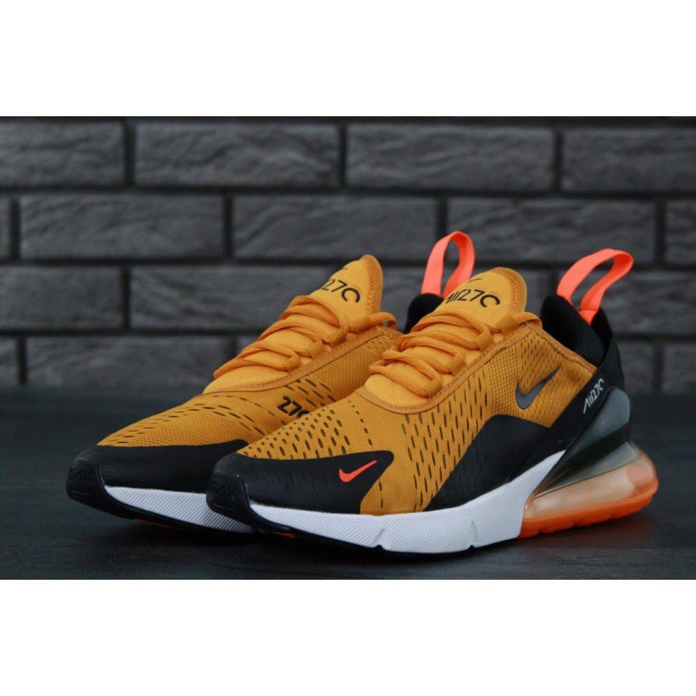 Демисезонные кроссовки мужские   - Мужские кроссовки Nike Air Max 270 черно-оранжевые 1