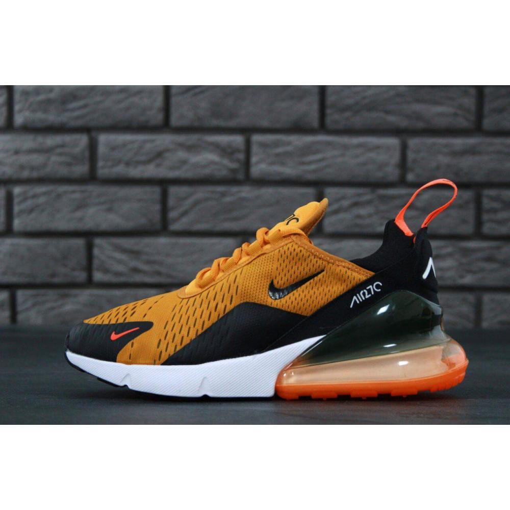 Демисезонные кроссовки мужские   - Мужские кроссовки Nike Air Max 270 черно-оранжевые 3