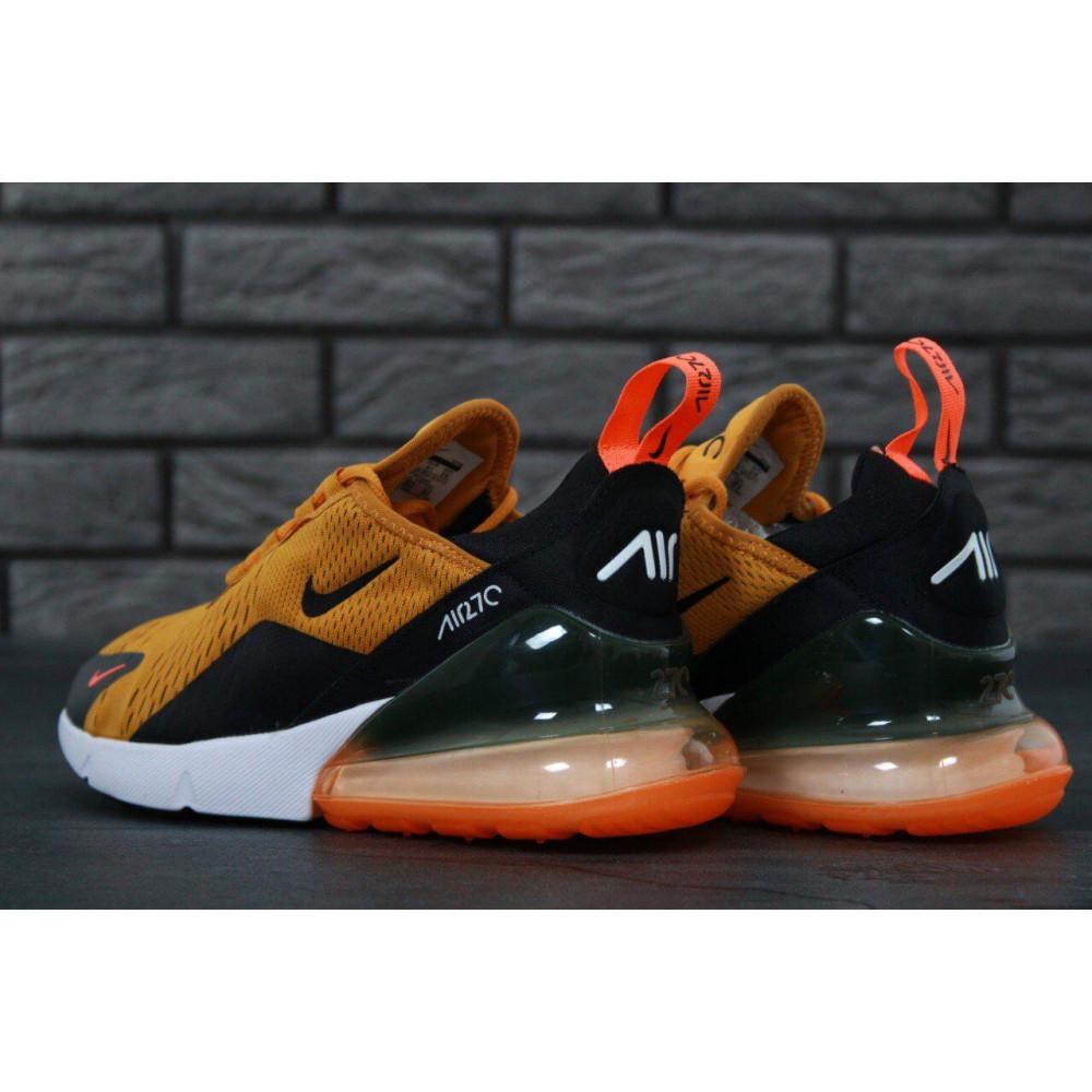 Демисезонные кроссовки мужские   - Мужские кроссовки Nike Air Max 270 черно-оранжевые 2