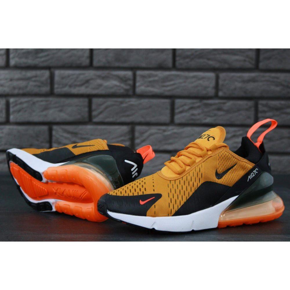 Демисезонные кроссовки мужские   - Мужские кроссовки Nike Air Max 270 черно-оранжевые 4