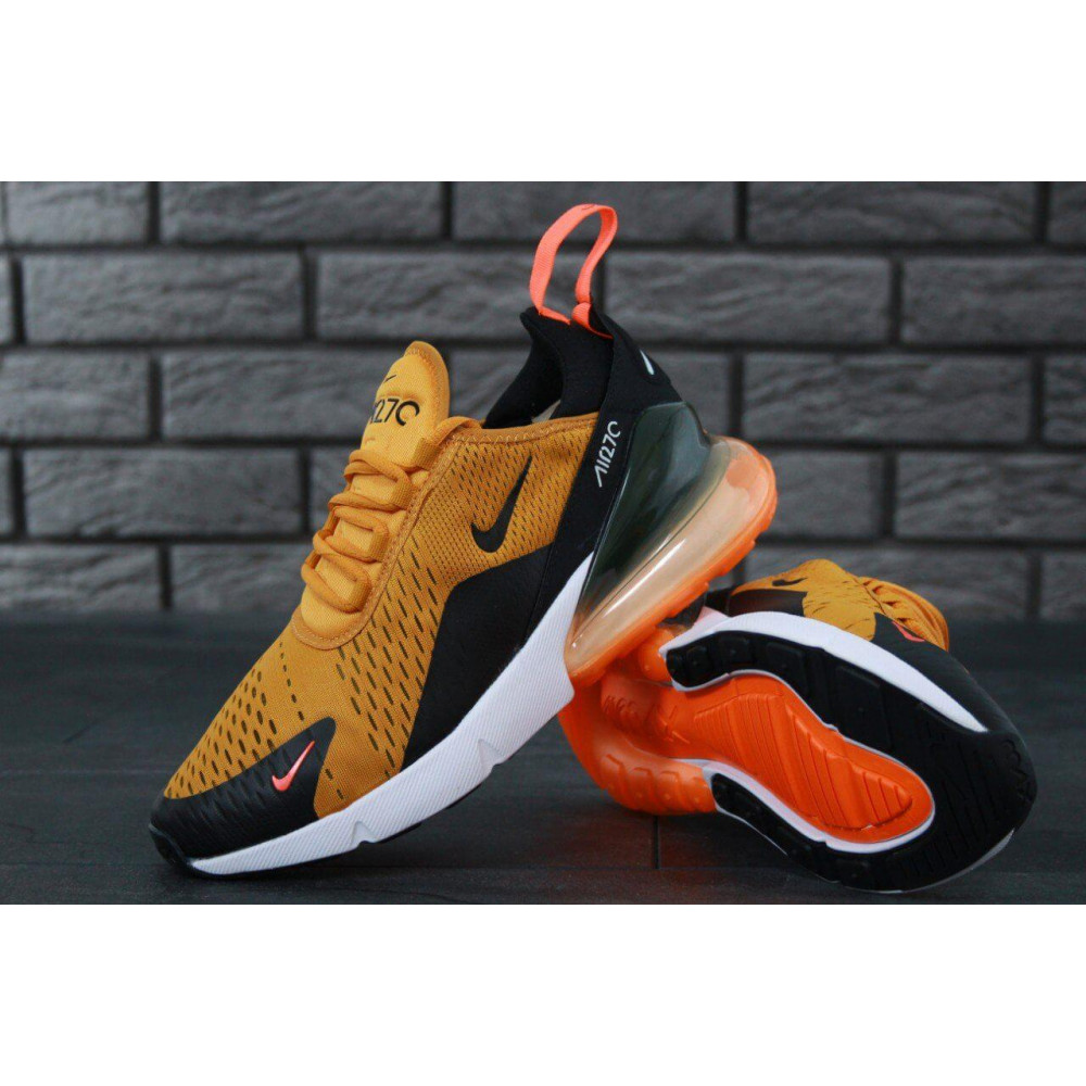 Демисезонные кроссовки мужские   - Мужские кроссовки Nike Air Max 270 черно-оранжевые 7