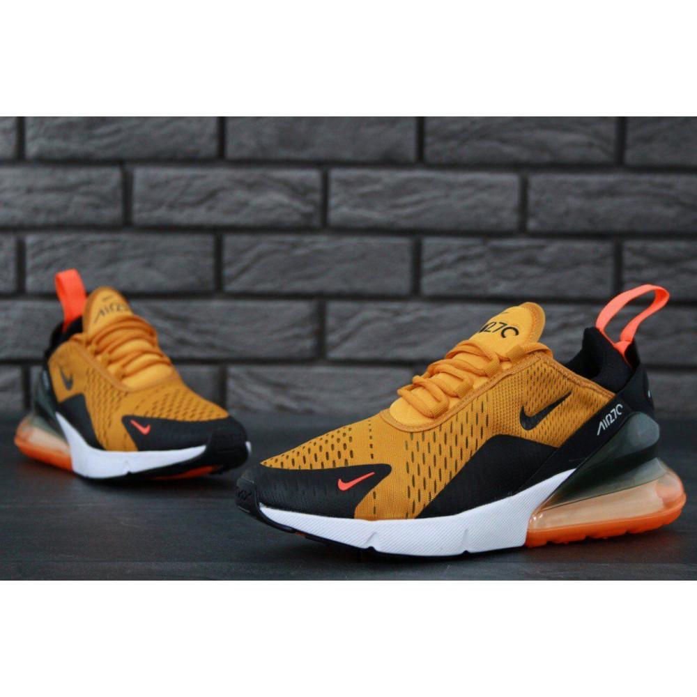 Демисезонные кроссовки мужские   - Мужские кроссовки Nike Air Max 270 черно-оранжевые 8