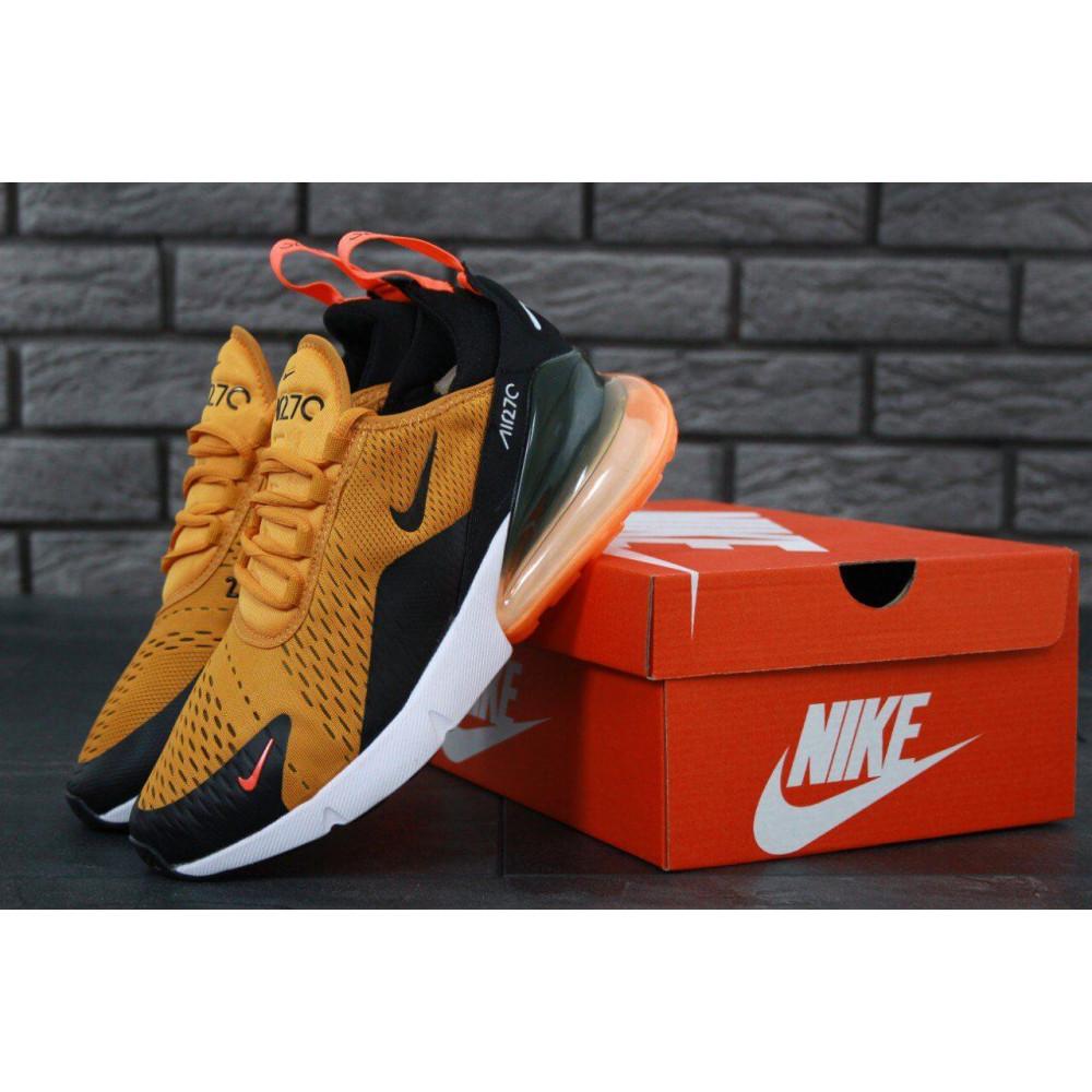 Демисезонные кроссовки мужские   - Мужские кроссовки Nike Air Max 270 черно-оранжевые 5