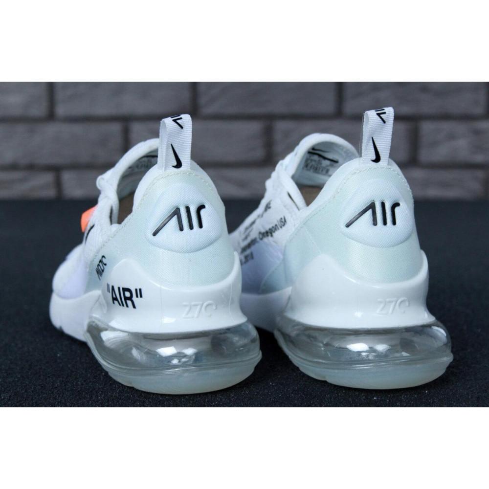 Беговые кроссовки мужские  - Кроссовки Nike Air Max 270 Off White 3