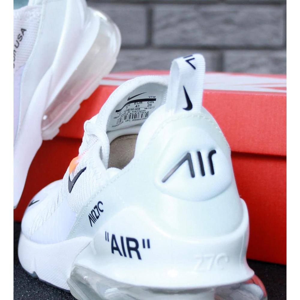 Беговые кроссовки мужские  - Кроссовки Nike Air Max 270 Off White 7