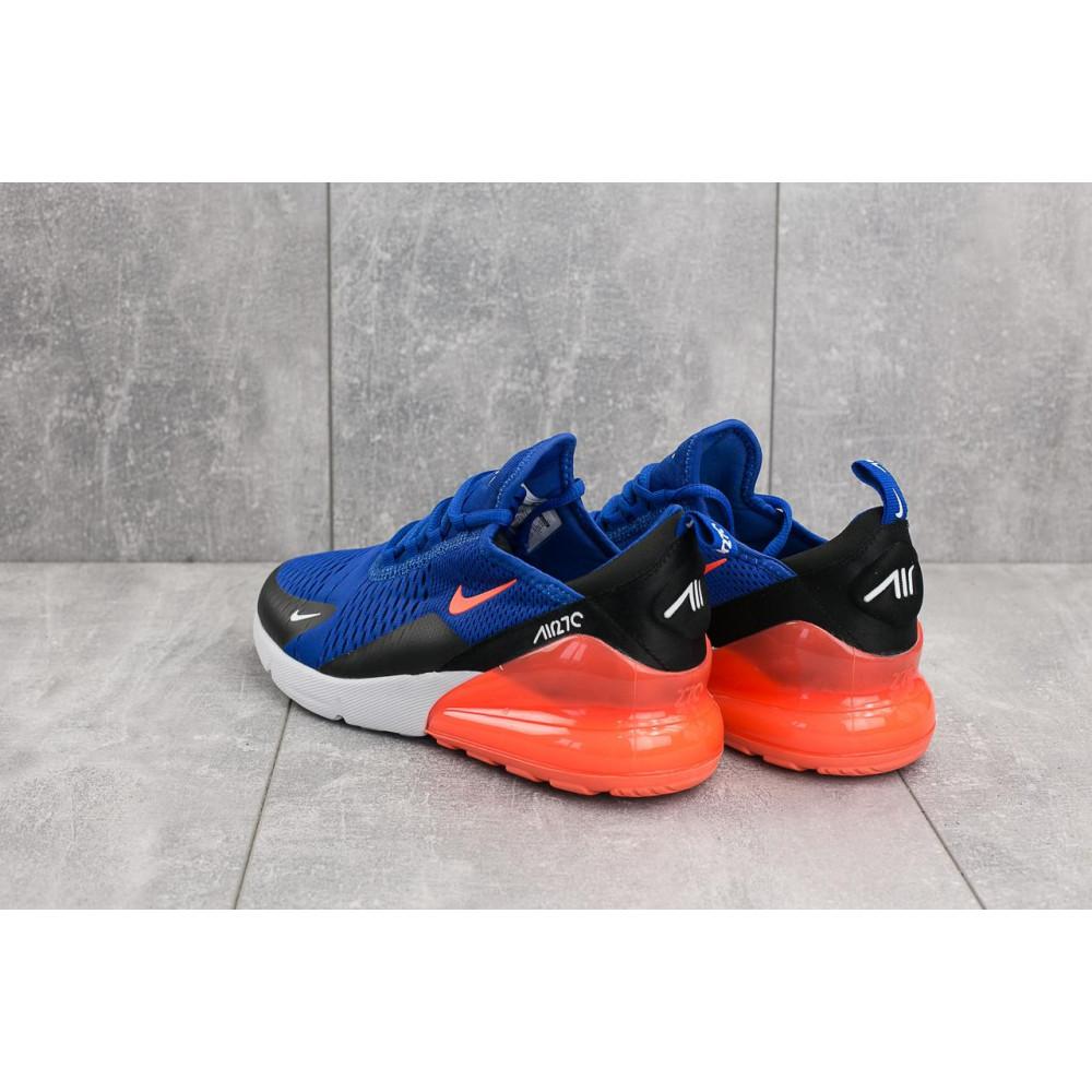 Демисезонные кроссовки мужские   - Мужские кроссовки текстильные весна/осень синие-оранжевые Baas А 358 -24 3
