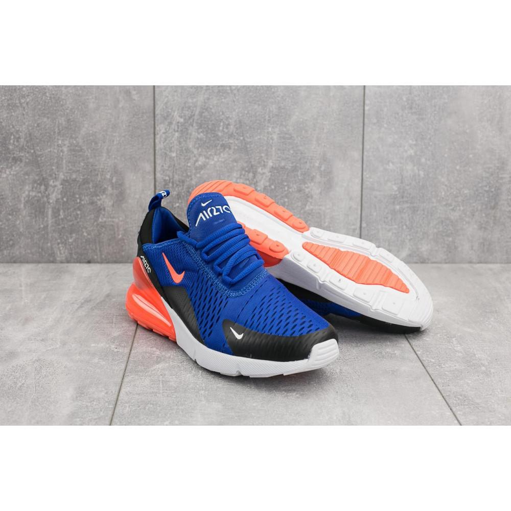 Демисезонные кроссовки мужские   - Мужские кроссовки текстильные весна/осень синие-оранжевые Baas А 358 -24 4